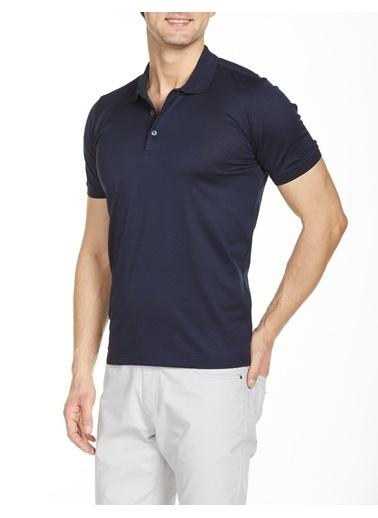 Bisse TS20Y20110 Regular Fit Desenli Polo Yaka T-Shirt Lacivert